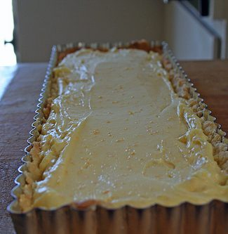 orange cream tart, orange recipes, orange desserts, orange tart