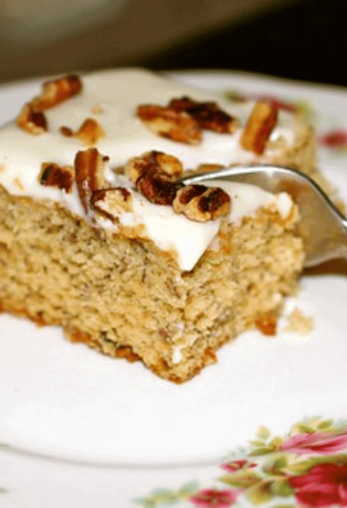 Roasted Banana Bars with Brown Butter Pecan Frosting
