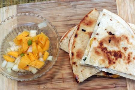 Mango Goat Cheese Quesadillas