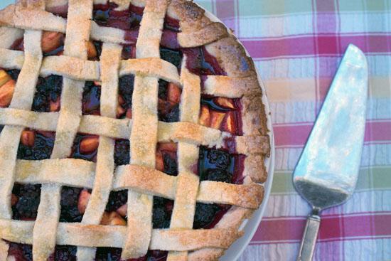 olallieberry peach pie