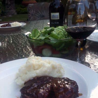 ribeye steak with mesa steak sauce