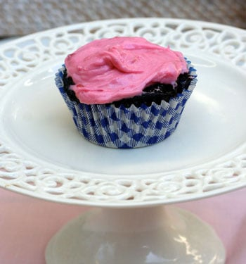 Dark Chocolate Cupcakes with Raspberry Buttercream and a Winner ...