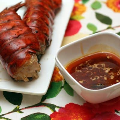 grilled lobster with orange chipotle vinaigrette
