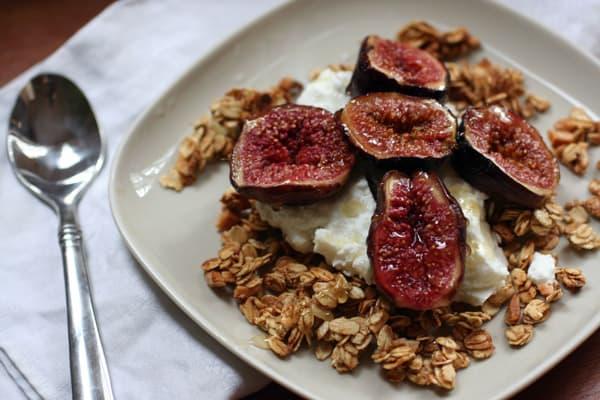 Baked Figs Over Yogurt and Granola