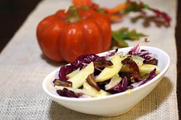 Apple Hazelnut Radicchio Salad Recipe