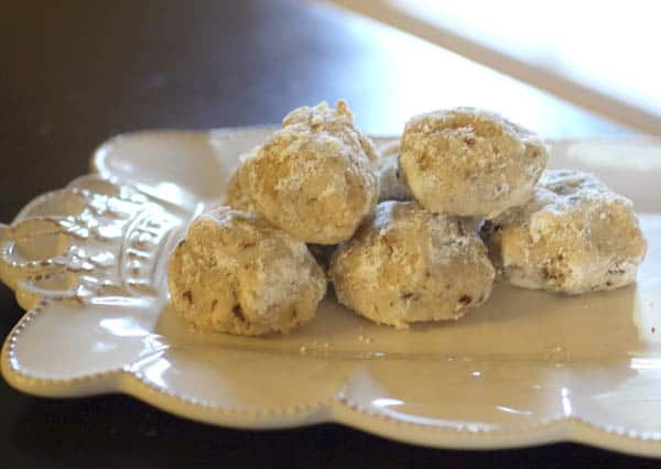 Browned Butter Snowballs with Dried Cranberries & Pecans