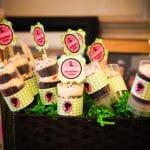 Display of chocolate push-up cakes