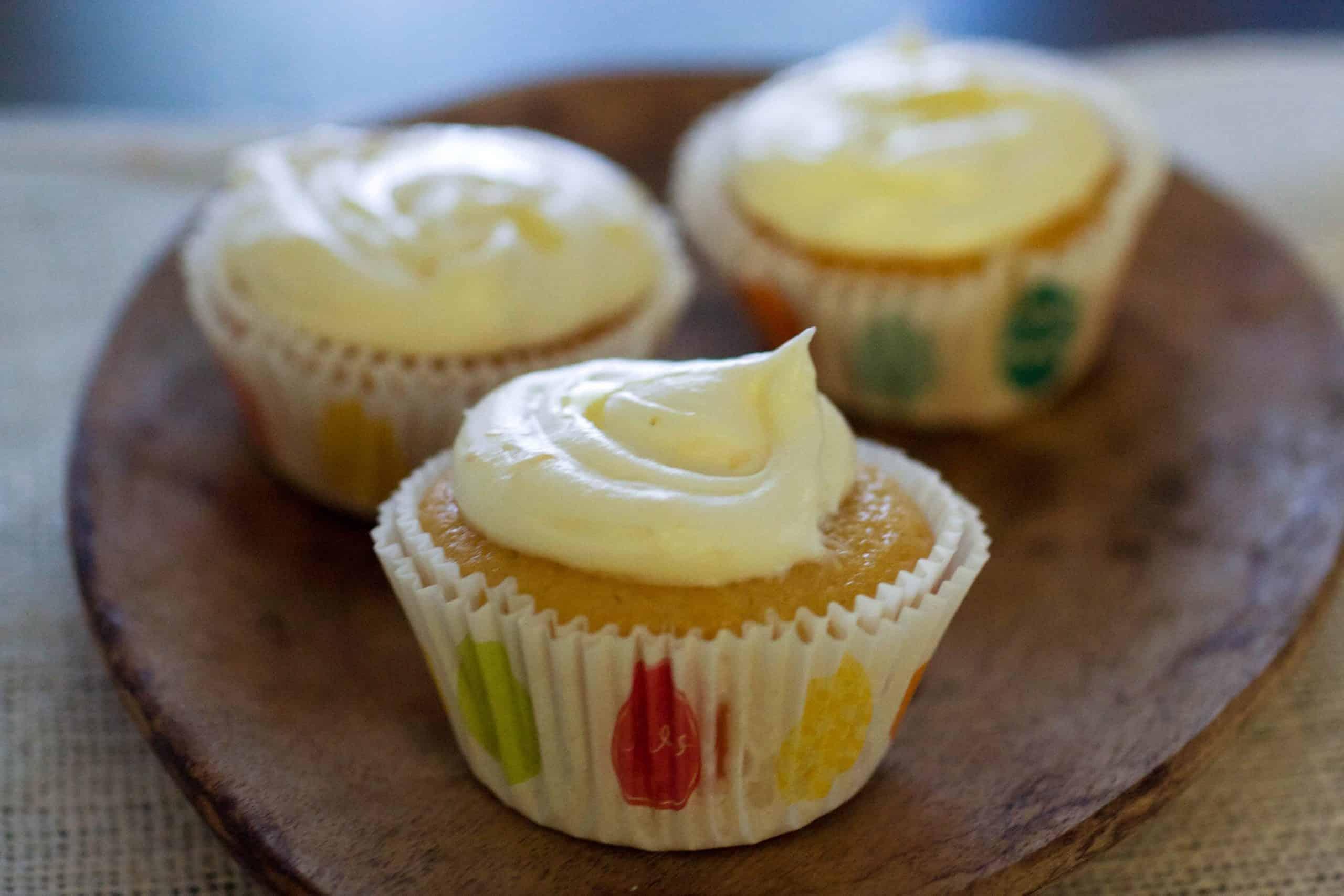Honey Grapefruit Cupcakes with Honey Buttercream Frosting