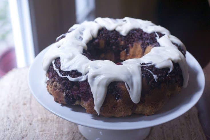 Brown Sugar Raspberry Coffee Cake