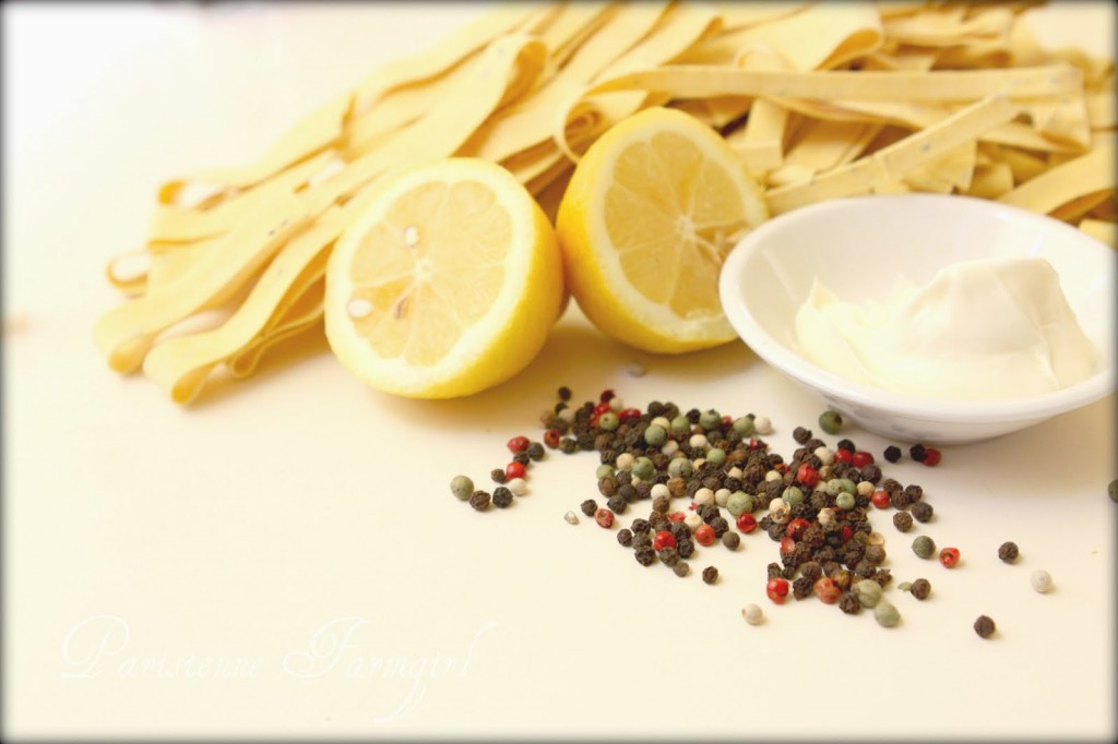 lemon pasta ingredients