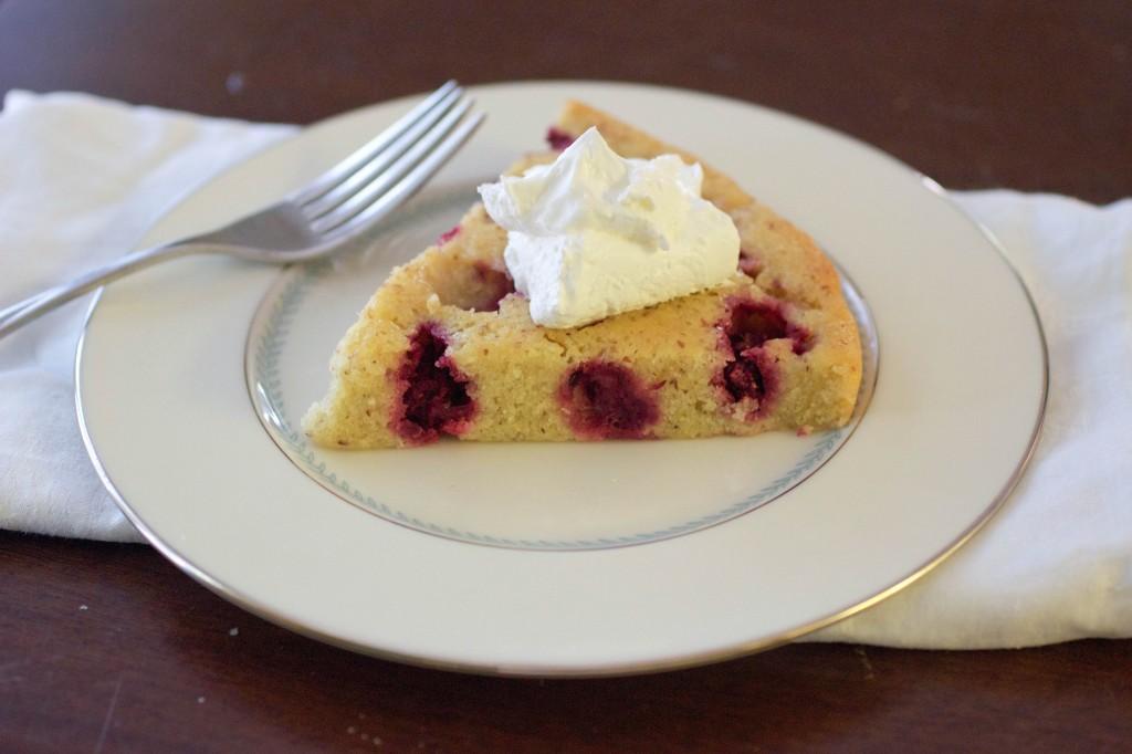almond olallieberry snack cake