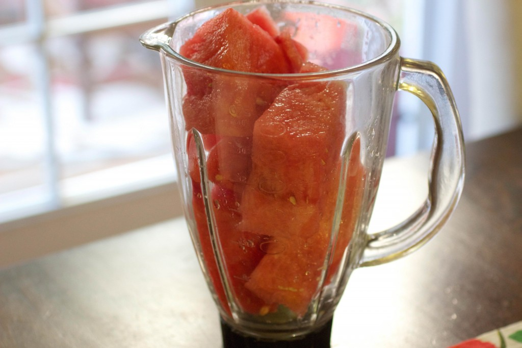 watermelon in blender
