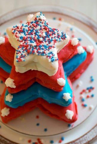 star cookie cake
