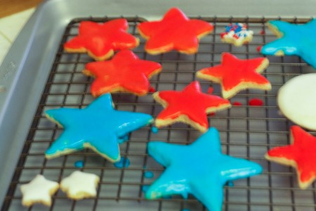 tray of star cookies