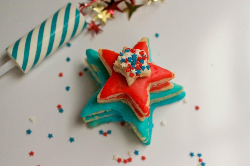 star cookie cake 2