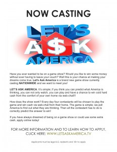 lets ask america casting flyer