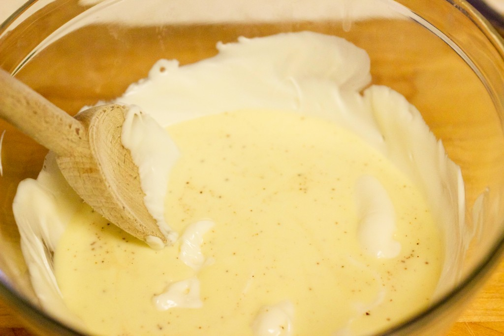 white chocolate eggnog