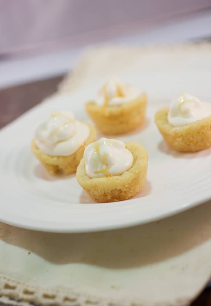 mini orange creamsicle cheesecake bites