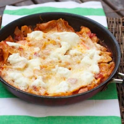skillet buffalo chicken lasagna