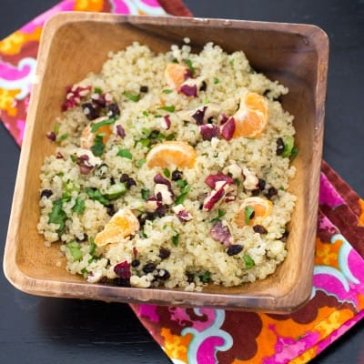 lemon cinnamon quinoa salad