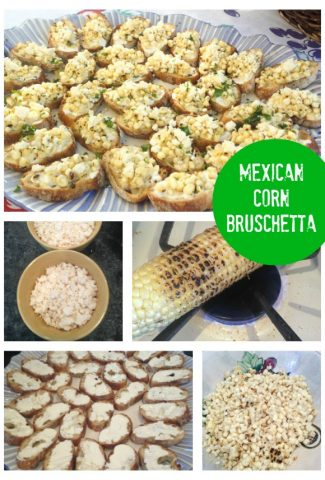 mexican corn bruschetta