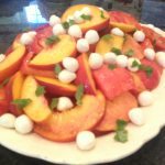 Peach Tomato Mozza Salad