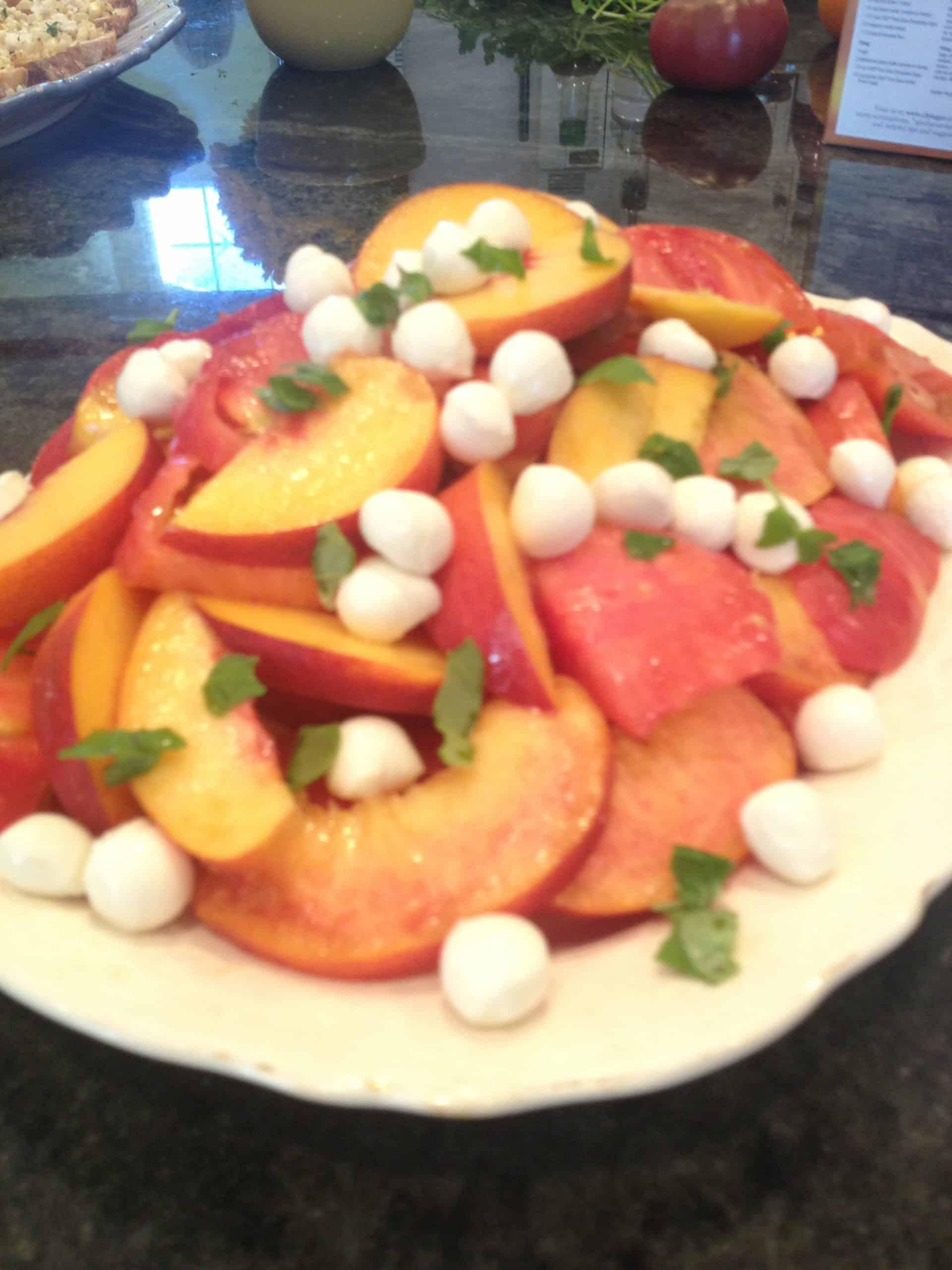 Class Recipes: Peach Tomato & Mozzarella Salad