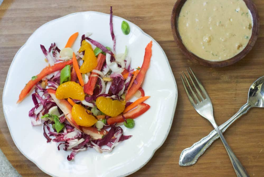 Slaw with Peanut Dressing