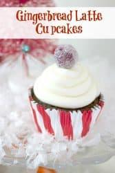 Gingerbread Latte Cupcake