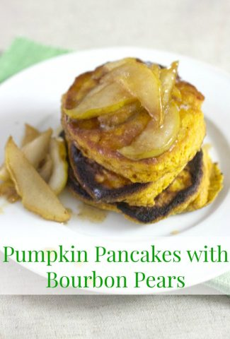 Pumpkin Pancakes with Bourbon Pears