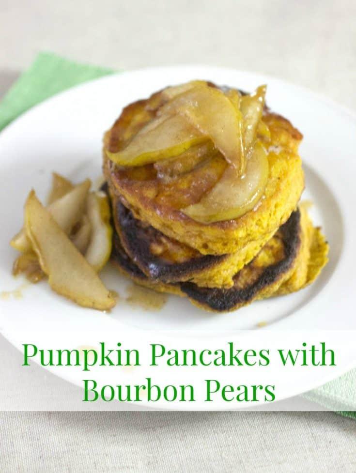 Pumpkin Pancakes with Bourbon Pears