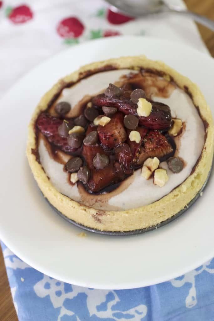 Roasted Strawberry Balsamic Tarts