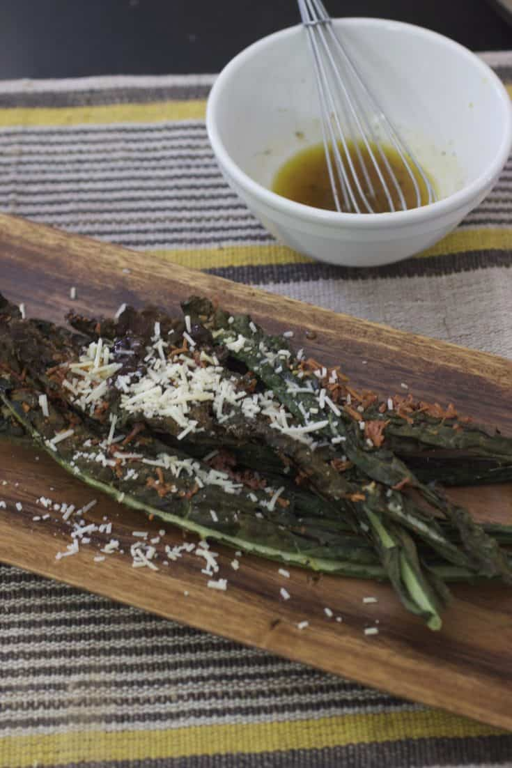 Crispy Kale Parmesan Salad