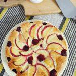 Peach Raspberry Cake
