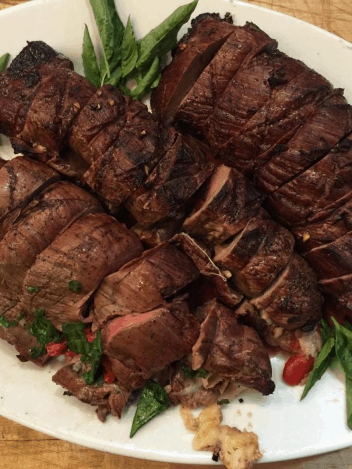 Plate of 3 Italian Stuffed Flank Steak