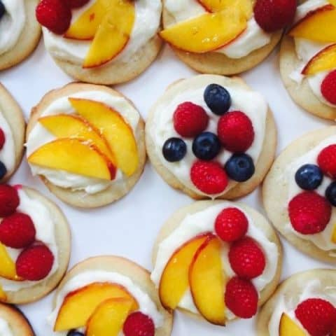 Sugar Cookie Fruit Tarts