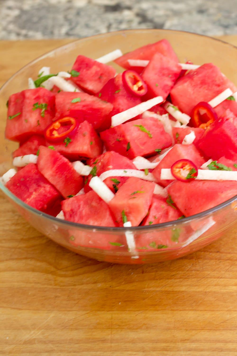 watermelon jalapeno salad 2