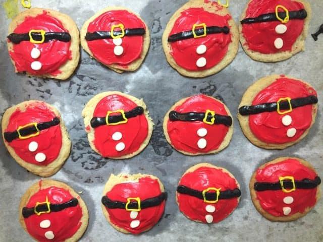 Plate of Santa's Belly sugar cookies