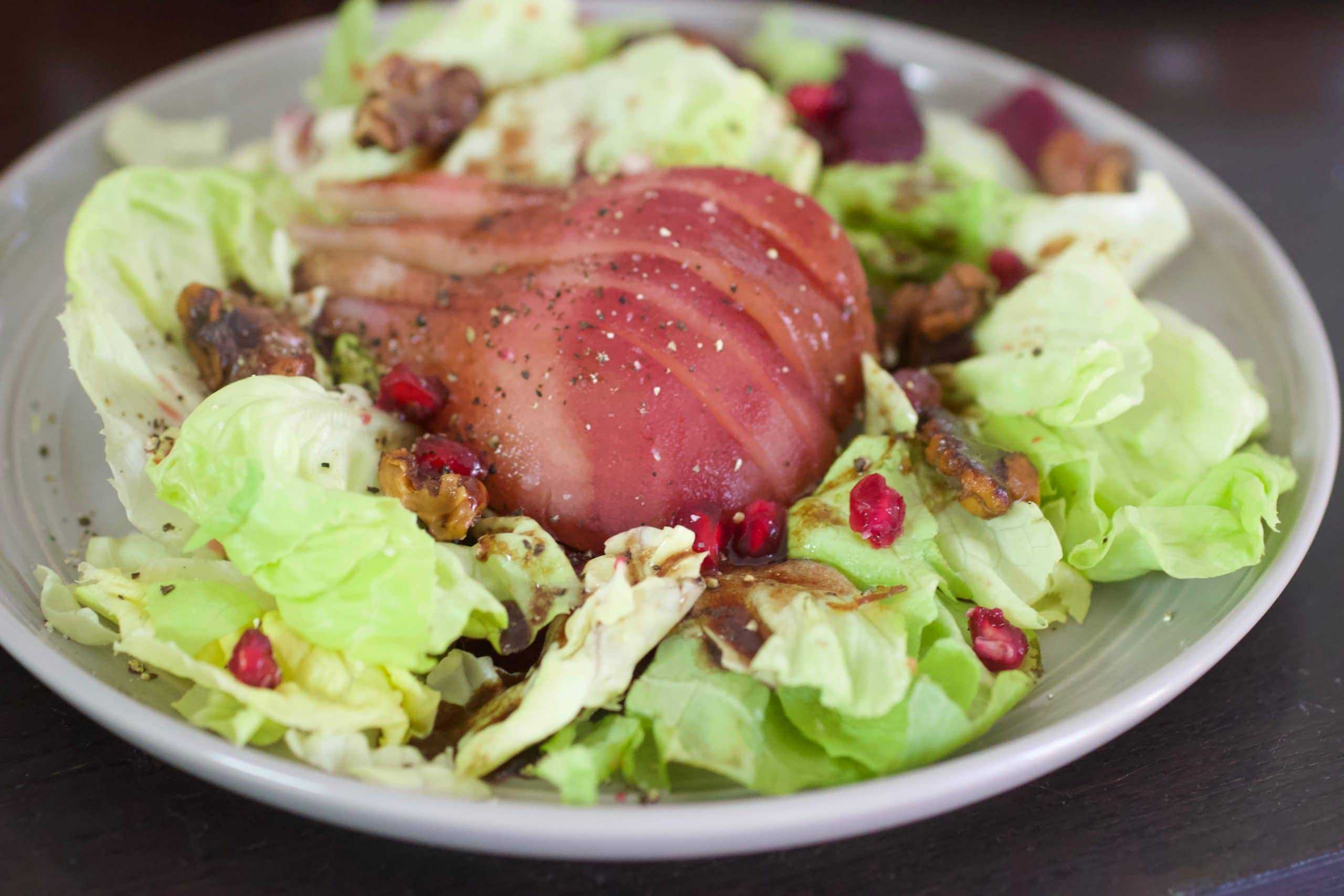 Butter Lettuce & Poached Pear Salad