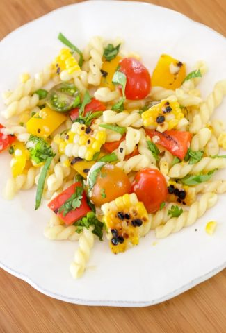 Plate of farmers market pasta