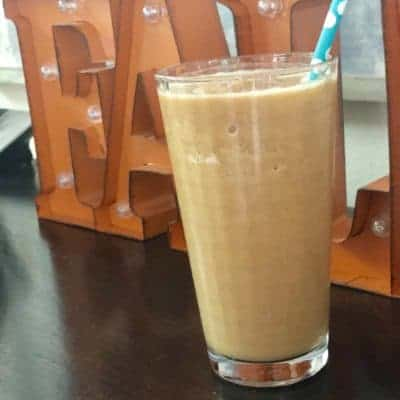 glass of pumpkin spice protein shake