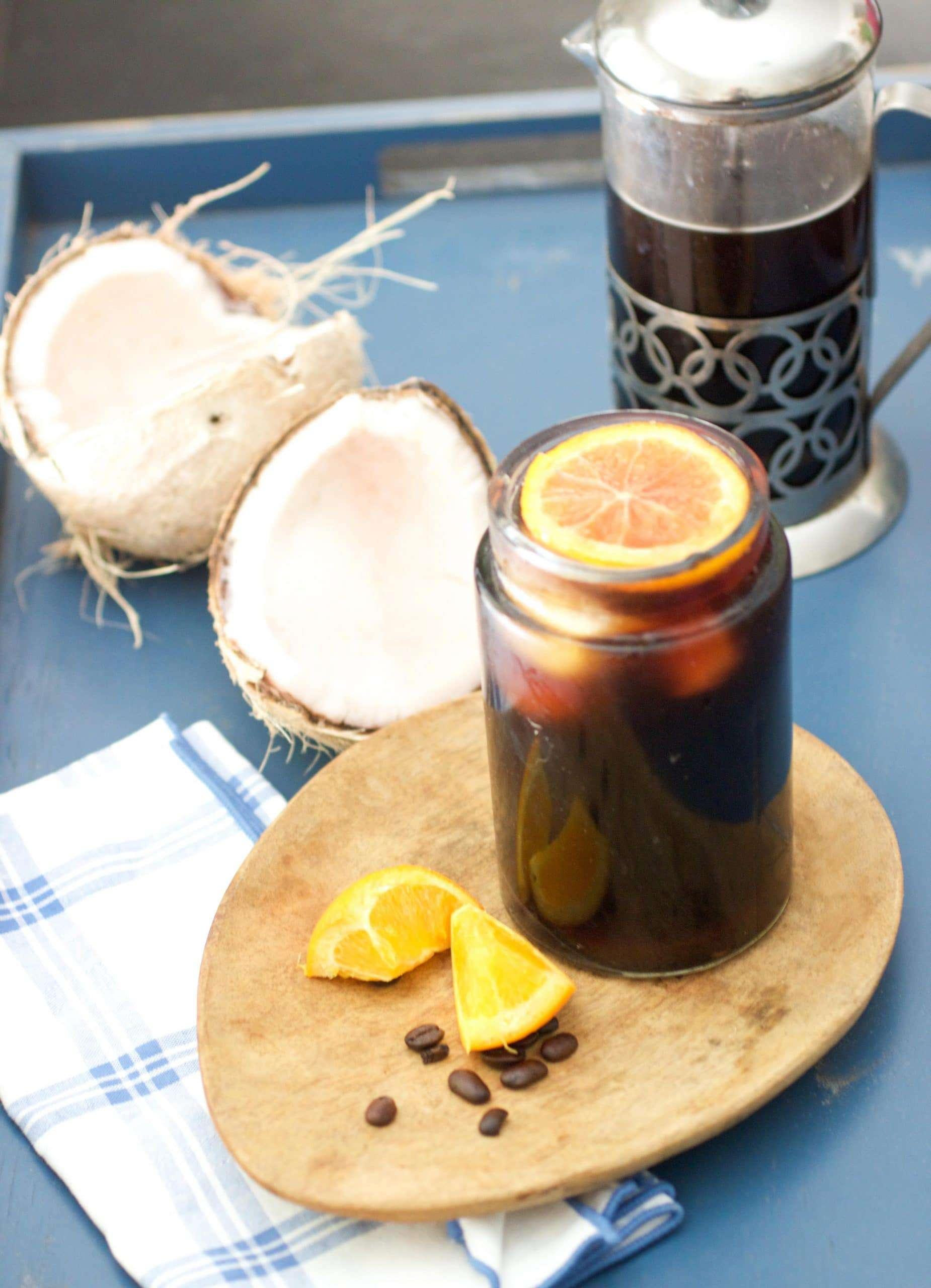 Coconut Orange Cold Brew Coffee