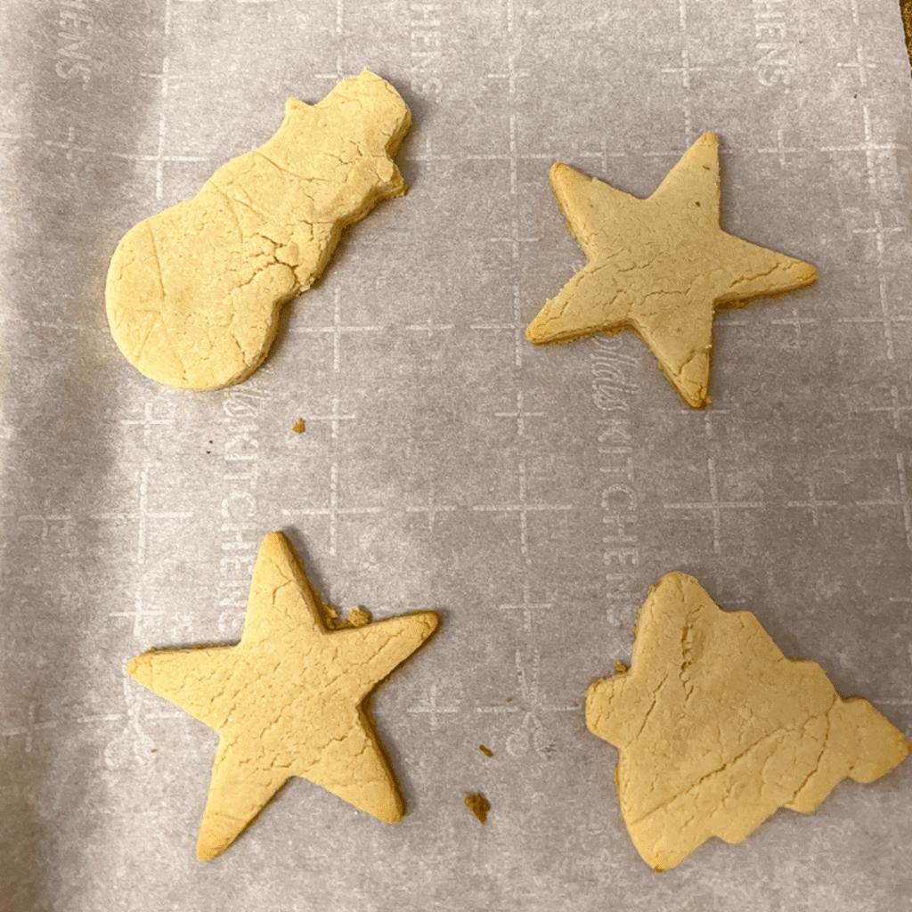 cookie sheet of vegan sugar cookies