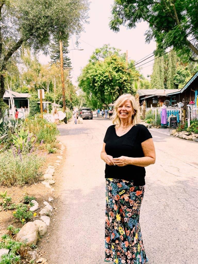 Cheri standing on street in SJC